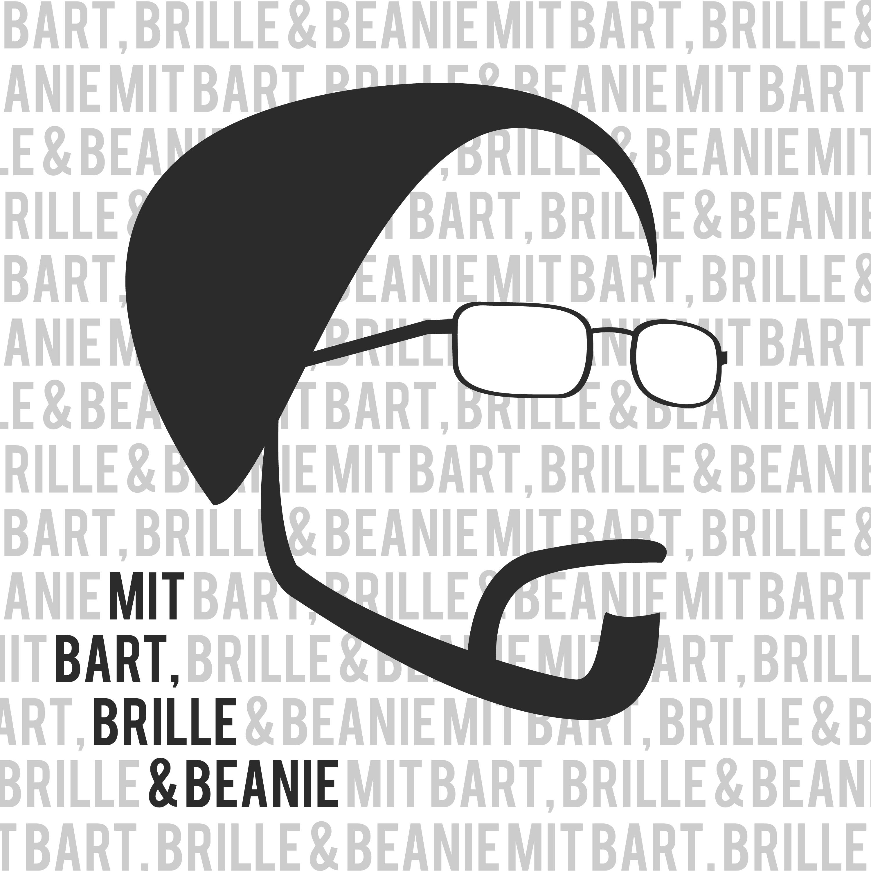 mit Bart, Brille & Beanie